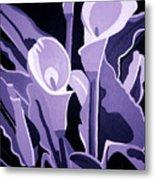 Calla Lillies Lavender Metal Print