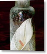 Calla Lily In A Bottle Metal Print