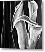 Callas Lilies Trio Metal Print
