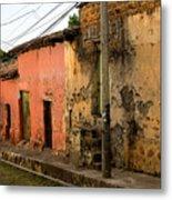 Calle En Suchitoto Metal Print