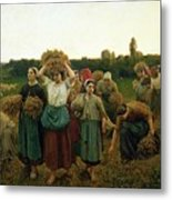 Calling In The Gleaners Metal Print
