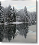 Calm And Frosty Metal Print
