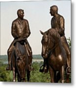Calm As A Summers Morning Hyrum And Joseph Smith Bronze Sculpture Metal Print