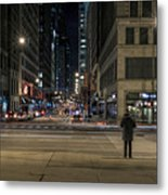 Calm In The Rush Metal Print