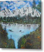 Calm Lake Metal Print
