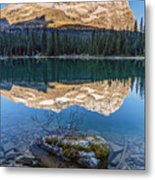 Calm O'hara Lake And Reflection At Sunrise Metal Print