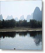 Calm On The Li River Metal Print by Gloria & Richard Maschmeyer - Printscapes