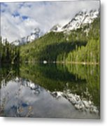 Calm Reflection On String Lake Metal Print