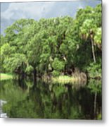 Calm River Reflections Metal Print
