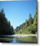 Calm Sandy River In Sandy, Oregon Metal Print