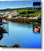 Calm Water At Peggys Cove #3 Metal Print
