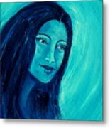 Calming Blues Metal Print