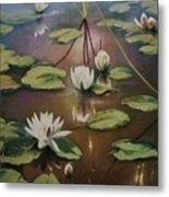 Calming Pond Metal Print