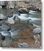 Calming Runnels Metal Print