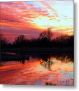 Calming Sunset Metal Print