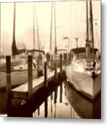 Calmly Docked Metal Print