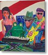 Calogs Frog Blues Band Metal Print