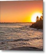 Caloundra Beach Sunset Metal Print