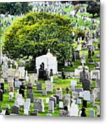 Calvary Cemetery From Above Metal Print