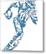 Calvin Johnson Detroit Lions Pixel Art 7 Metal Print