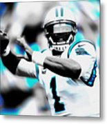 Cam Newton Letting It Fly Metal Print
