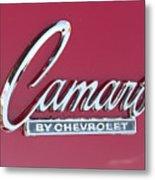 Camaro Emblem By Chevrolet Metal Print
