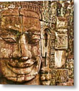 Cambodia Faces  Metal Print