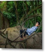 Cambodian Jungle Swing Metal Print
