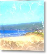 Cambria On The Pacific Metal Print by Arline Wagner