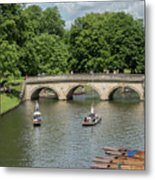 Cambridge Punting On The River Metal Print