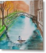 Cambridge River View Metal Print