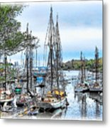 Camden Bay Harbor Metal Print
