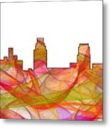Camden Nj Skyline Metal Print