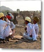 Camel Traders Pushkar Metal Print