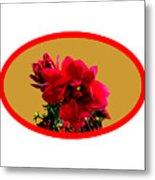 Camellia Bg Gold Metal Print