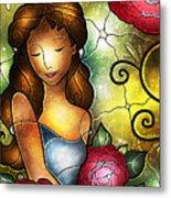 Camellia Lady Metal Print