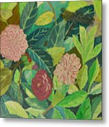 Camellias Metal Print