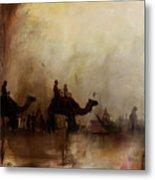 Camels And Desert 18 Metal Print