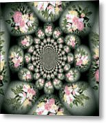 Cameo Bouquet Metal Print