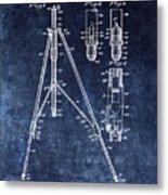 Camera Tripod Patent Metal Print