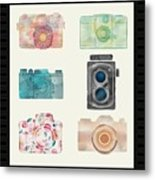 Cameras Of Today And Yesteryear Metal Print