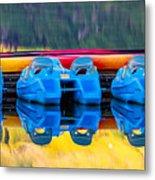 Cameron Lake Paddle Boats Metal Print