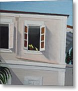 Camille Pissaro Courtyard Metal Print by Robert Rohrich