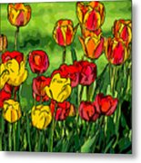 Camille's Tulips Metal Print