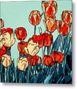 Camille's Tulips - Version 3 Metal Print
