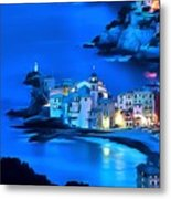 Camogli Sunrise - Camogli All'alba Paint2 Metal Print