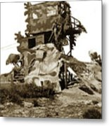 Camouflage Observation Tower Near Asilomar And The Point Pinos Lighthouse 1941 Metal Print