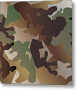 Camouflage Pattern Background  Clothing Print, Repeatable Camo G Metal Print