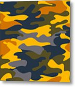 Camouflage Pattern Background Seamless Clothing Print, Repeatabl Metal Print