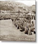 Camp San Luis Obispo Army Base 40th Division Photo 143rd Field Artillery 1941 Metal Print